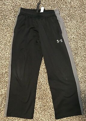 Boys Under Armour UA Sweatpants Pants Size Youth Small YSM Loose Coldgear