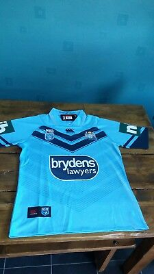 State Of Origin New South Wales Blues Rugby League 2018 Shirt BNWT