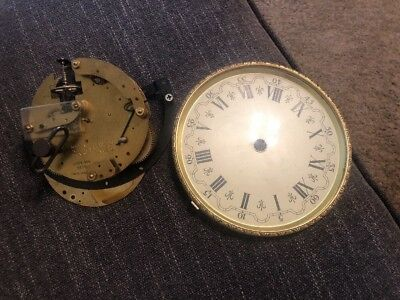 Seth Thomas A206-000 (2 jewel) used movement With Face For Repair Parts