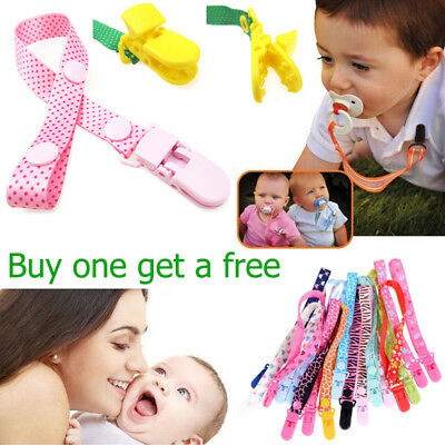 2Pcs Baby Pacifier Clip Baby Soother Clips Chain Holder Pacifier Strap Anti-lost