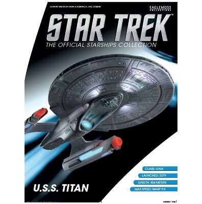 Star Trek Eaglemoss Magazine Only. Uss Titan