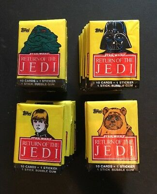 1983 TOPPS STAR WARS RETURN OF THE JEDI SERIES 1 36 PACK Lot VINTAGE Sealed Mint