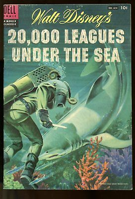 Four Color #614 Very Good / Fine 20,000 Leagues Under The Sea 1954 Dell