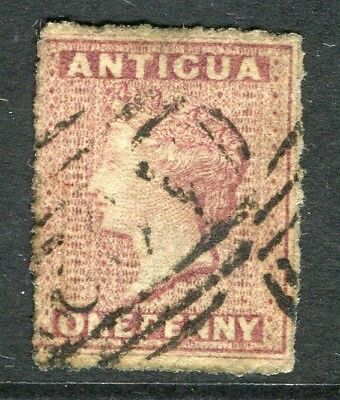 ANTIGUA; 1860s early classic QV issue fine used 1d. value