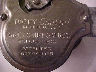 Antique Dazey Sharpit made by the Churn Co 1925 early Dazey product