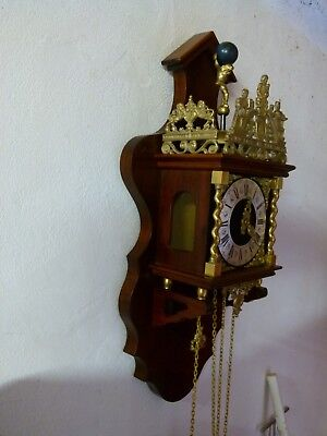 Dutch wall clock spares or repair FHS movement all complete