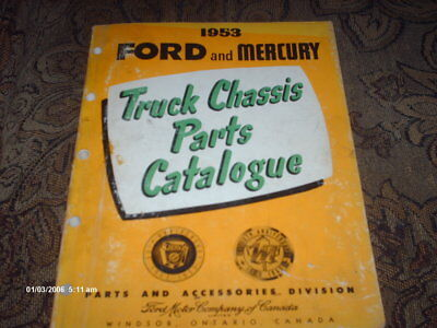 Ford and Mercury 1953 Truck catalogue book