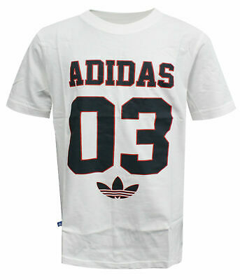 Adidas Originals CJ Girls Boys Unisex White Cotton Crew T-Shirt S14430 A78C