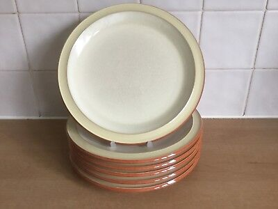 Denby Fire Chilli 6 x 22.5 cm Cream Rimmed Salad Plates