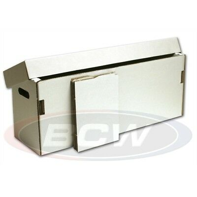 Comic Storage Box - Corrugated Cardboard to store 200-225 comics with 2 Dividers