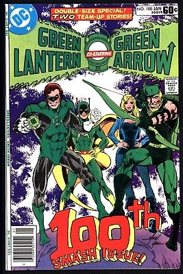 Green Lantern #100  Vfn+ 8.5 Giant Sized Issue White Pages  From 1978