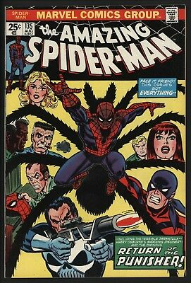 AMAZING SPIDER-MAN #135, NM-.  2nd EVER PUNISHER! LOVELY GLOSSY COPY