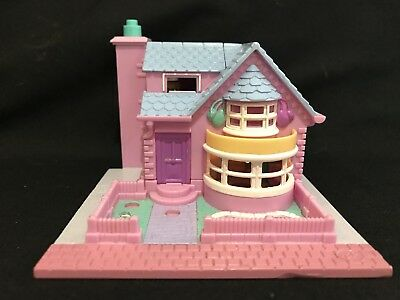 Vintage polly pocket 1993 Bay Window house  - Lights Up