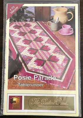 The Quilted Closet Posie Parade Tablerunner Quilt Craft PATTERN ONLY