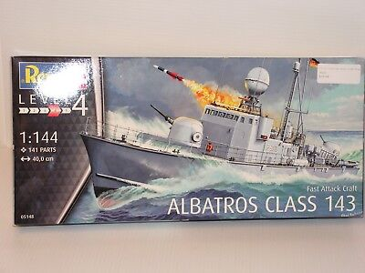 Revell/germany 1/144 Scale Albatros Class 143 Fast Attack Boat Open/fsi