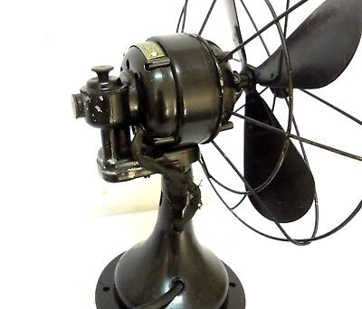 Antique Vintage Westinghouse Oscillating Fan 11´´ Cage & 14´´ Tall Working Serv.