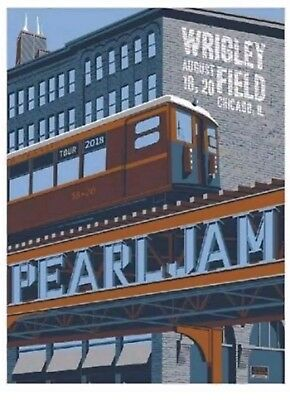 Pearl Jam * Wrigley Field 2018 Poster * Chicago - Steve Thomas - SOLD OUT!!!!