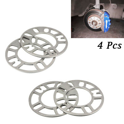 4PCS 5mm Alloy Aluminum Wheel Spacers Adaptor Shims Plate 4/5 Stud For Car Apply