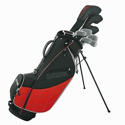 Wilson Ultra Men's 13-Piece, Left-Handed Golf Club Set w/ Bag, Black & Red