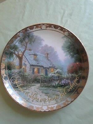 """Thomas Kinkade """"Places in the Heart"""" Foxglove Cottage Plate #374A"""