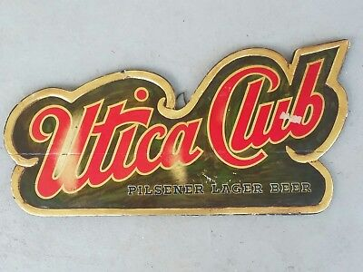 RARE Utica Club Beer Composite Sign New York Dive Bar Sign Vintage NY Beer Sign