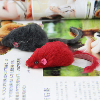 Soft Fleece False Mouse Cat Toys Funny Playing Toys For Cats Kitten X1 FEVR XC