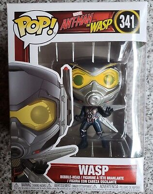 "Funko POP! Marvel Wasp Vinyl Bobble Head #341  4"" Ant-Man"
