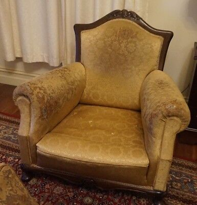 Beautiful Solid Antique Armchairs (2 of)