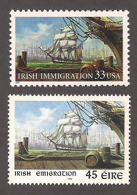 Irish Immigration - U.s. & Ireland Postage Stamps - Joint Issue - Mint Condition