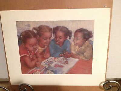 """Reading and Friendship"" Print by Brenda Joysmith African American Artist"