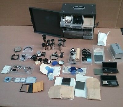 Lot of Microscope repair parts new & used Zeiss, B&L, & Smith & sons objec lens