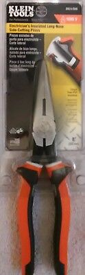 """Klein 203-8-EINS 1000 volt,  fully insulated handle, 8"""" needle nose pliers."""