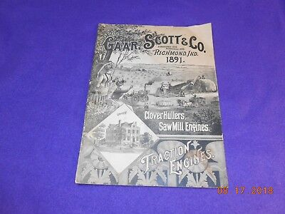 1891 GAAR SCOTT & CO Booklet of Tractor Engines, Clover Hullers,Saw Mill Engines