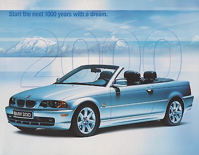 2000 BMW Official Brochure / Poster for the entire product line for U.S. Market