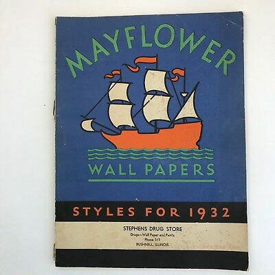 Vintage Wallpaper Sample Book Catalog 1932 Advertising Home Decor Art Deco Era