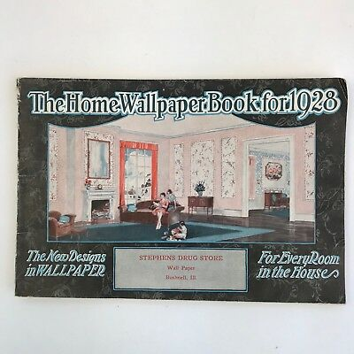 Vintage Wallpaper Sample Book Catalog 1928 Advertising Home Decor Art Deco Era