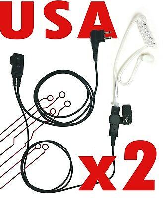 2 Pins Acoustic Air Tube Earpiece Headset for Motorola CP200 CP100 CP110 CP88