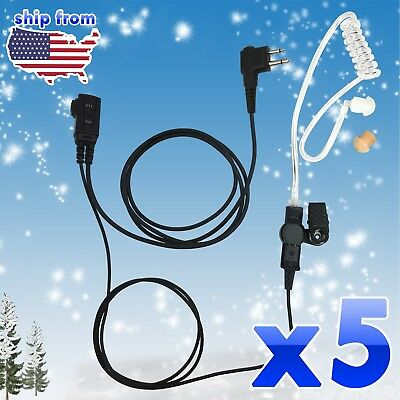 FBI Style Headset Earpiece Mic Security Walkie Talkie for Morotola 2 Pins CP200