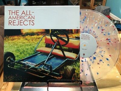 The All American Rejects Red White Blue Splatter Lp Record Limited Edition