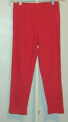 Hanna Andersson Girls Cotton Ribbed Capri Red Pants Size 150 12 NWOT