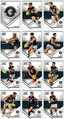 2018 Afl Select Legacy Carlton Blues Common Team Set All 12 Cards