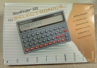 Wordfinder 220 Electronic Spelling Checker Thesaurus.