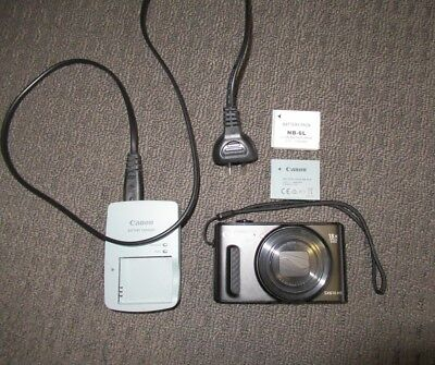 Canon PowerShot SX610 HS Camera with Charger + Spare Battery - Flash NOT Working