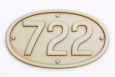 South Australian Railways Oval Steam Locomotive Number Plate (225mm)