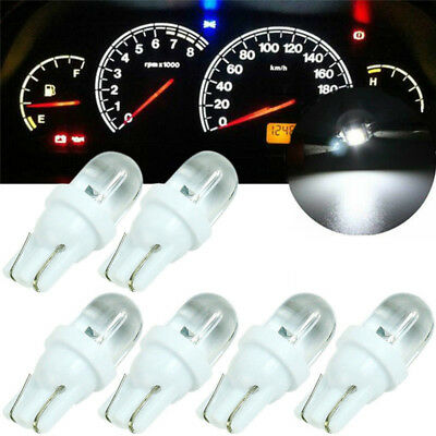 10x T10 White 12V LED Car Auto Wedge Dashboard Light Width Light Reading Li LQ