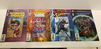 DC Comics New 52 Futures End Lenticular 7 Comic Lot NM