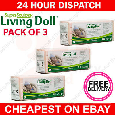 BABY colour Super Sculpey LIVING DOLL Polymer Clay 454g 1lb - FREE DELIVERY