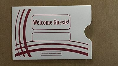 """Keycard Envelope / Sleeve """" Welcome Guests"""" 2-3/8"""" x 3-1/2"""" 500CT- Item#K... New"""