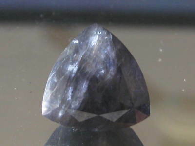 Iolite, 7.6 ct, 13mm Trillion cut, Natural purple Iolite gemstone,