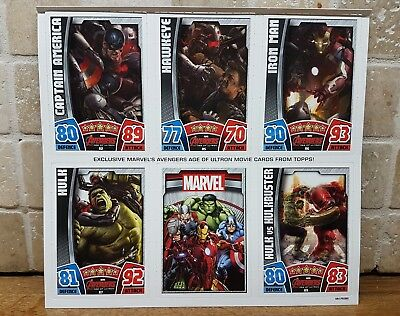 Hero Attax Marvel Cinematic Universe exclusive 5 cards ulton avengers
